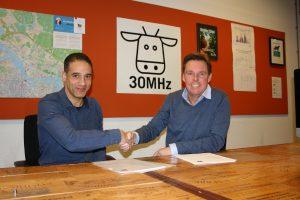 Nathan Griffiths, CFO 30MHz & Bonny Heeren, General Manager Saint-Gobain Cultilene